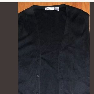 Claiborne Sweaters - Claiborne Men's Black Sweater Vest - Size L